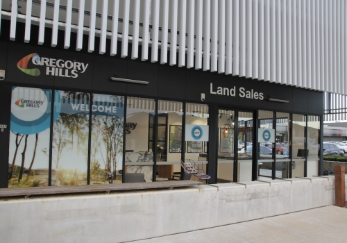 The new Gregory Hills sales office